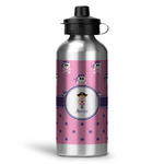 Pink Pirate Water Bottle - Aluminum - 20 oz (Personalized)