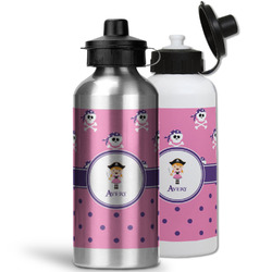 Pink Pirate Water Bottles- Aluminum (Personalized)