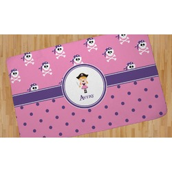 Pink Pirate Area Rug (Personalized)