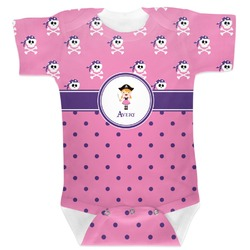 Pink Pirate Baby Bodysuit (Personalized)