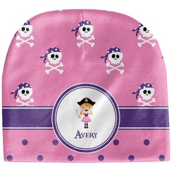 Pink Pirate Baby Hat (Beanie) (Personalized)