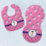 Pink Pirate Baby Bib & Burp Set w/ Name or Text