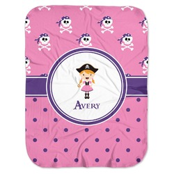 Pink Pirate Baby Swaddling Blanket (Personalized)
