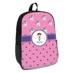 Pink Pirate Kids Backpack (Personalized)