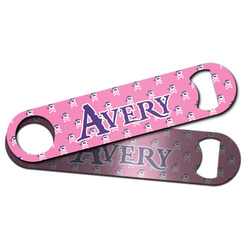 Pink Pirate Bar Bottle Opener w/ Name or Text