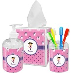 Pink Pirate Bathroom Accessories Set (Personalized)