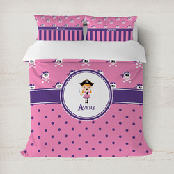 Pink Pirate Duvet Cover (Personalized)