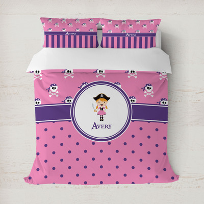 Pink Pirate Duvet Covers (Personalized)