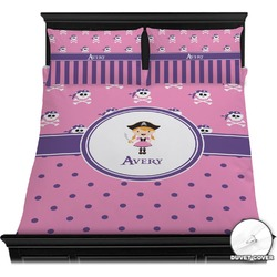 Pink Pirate Duvet Cover Set (Personalized)