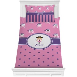 Pink Pirate Comforter Set - Twin XL (Personalized)
