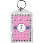 Pink Pirate Bling Keychain (Personalized)