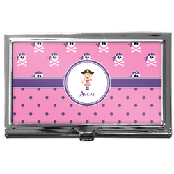 Pink Pirate Business Card Case