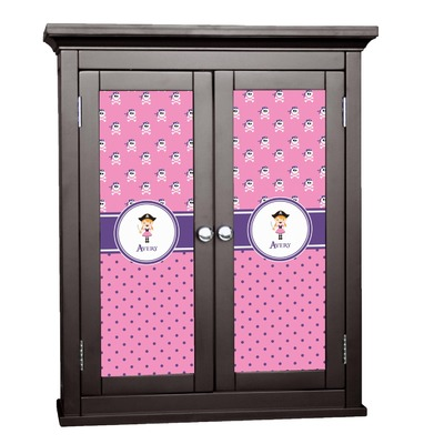 Pink Pirate Cabinet Decal - Medium (Personalized)