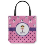 Pink Pirate Canvas Tote Bag (Personalized)
