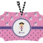 Pink Pirate Rear View Mirror Ornament (Personalized)