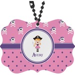 Pink Pirate Rear View Mirror Charm (Personalized)
