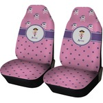 Pink Pirate Car Seat Covers (Set of Two) (Personalized)