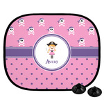 Pink Pirate Car Side Window Sun Shade (Personalized)