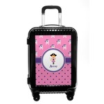 Pink Pirate Carry On Hard Shell Suitcase (Personalized)