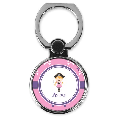 Pink Pirate Cell Phone Ring Stand & Holder (Personalized)