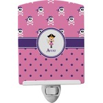 Pink Pirate Ceramic Night Light (Personalized)