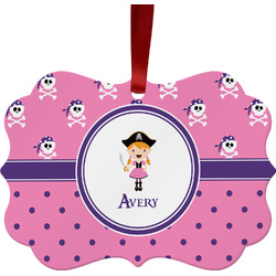 Pink Pirate Ornament (Personalized)