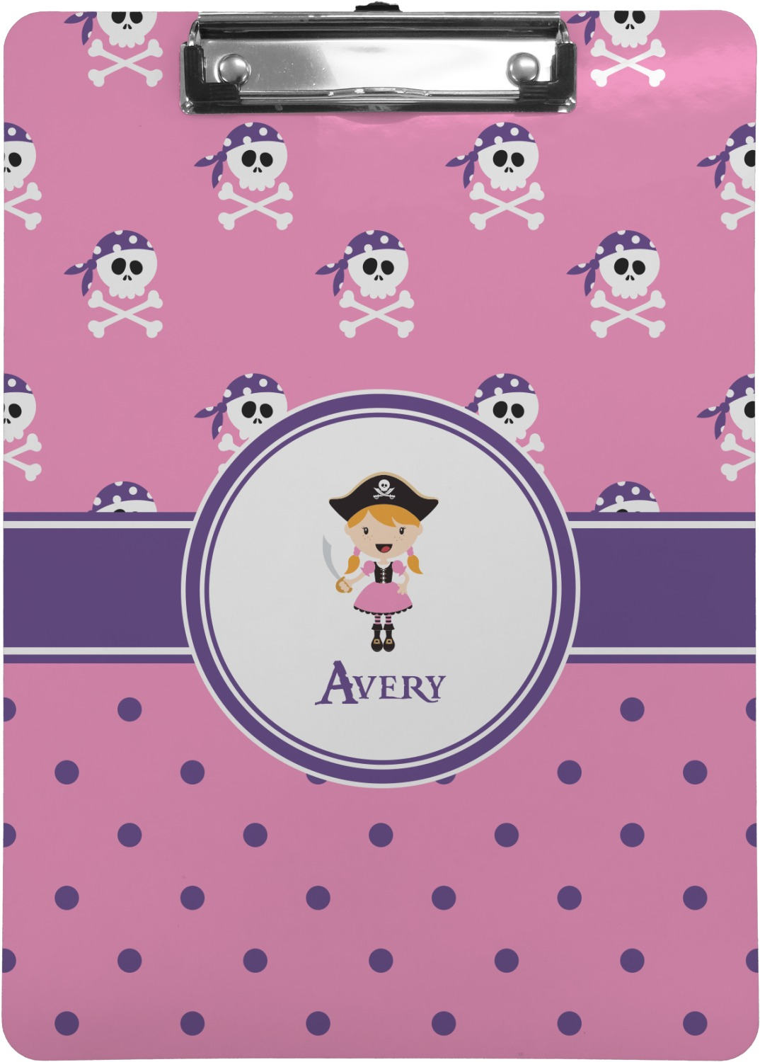 what is letter size pink pirate clipboard letter size personalized 30979