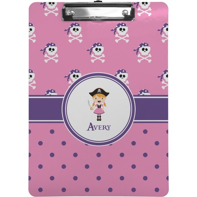Pink Pirate Clipboard (Personalized)