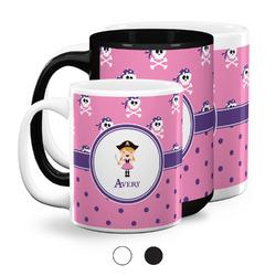 Pink Pirate Coffee Mugs (Personalized)