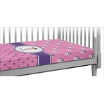 Pink Pirate Crib Fitted Sheet (Personalized)