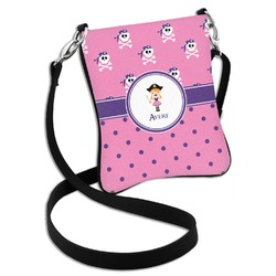 Pink Pirate Cross Body Bag - 2 Sizes (Personalized)