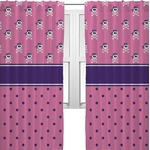 Pink Pirate Curtains (2 Panels Per Set) (Personalized)