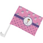 Pink Pirate Car Flag (Personalized)