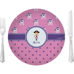 Pink Pirate Dinner Plate (Personalized)