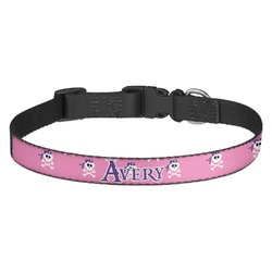 Pink Pirate Dog Collar (Personalized)