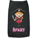 Pink Pirate Black Pet Shirt (Personalized)