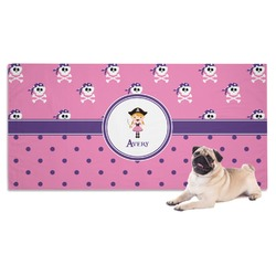 Pink Pirate Dog Towel (Personalized)
