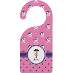 Pink Pirate Door Hanger (Personalized)