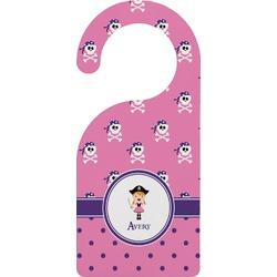 Pink Pirate Door Hanger (Personalized)