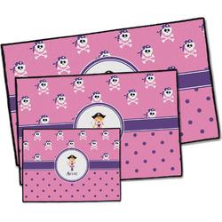 Pink Pirate Door Mat (Personalized)