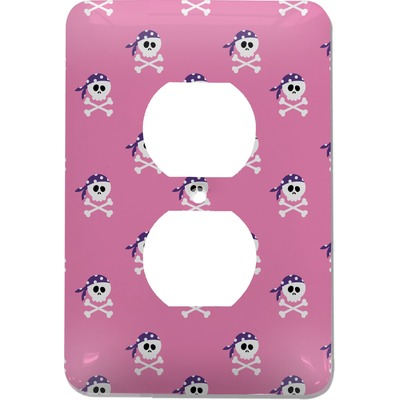 Pink Pirate Electric Outlet Plate (Personalized)