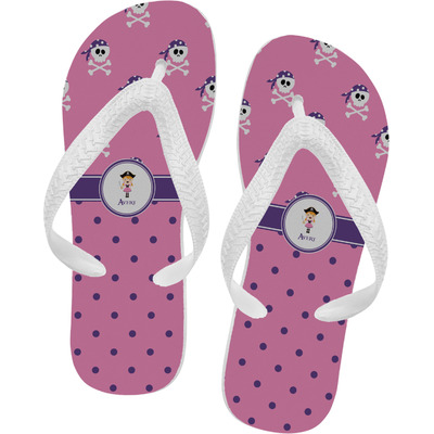Pink Pirate Flip Flops (Personalized)