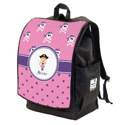 Pink Pirate Backpack w/ Front Flap  (Personalized)