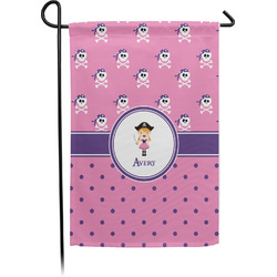 Pink Pirate Garden Flag - Single or Double Sided (Personalized)