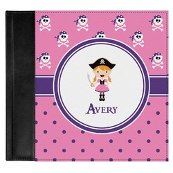 Pink Pirate Genuine Leather Baby Memory Book (Personalized)