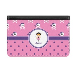 Pink Pirate Genuine Leather ID & Card Wallet - Slim Style (Personalized)