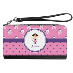 Pink Pirate Genuine Leather Smartphone Wrist Wallet (Personalized)
