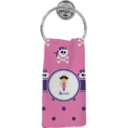 Pink Pirate Hand Towel - Full Print (Personalized)