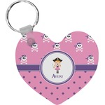 Pink Pirate Heart Keychain (Personalized)