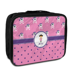 Pink Pirate Insulated Lunch Bag (Personalized)